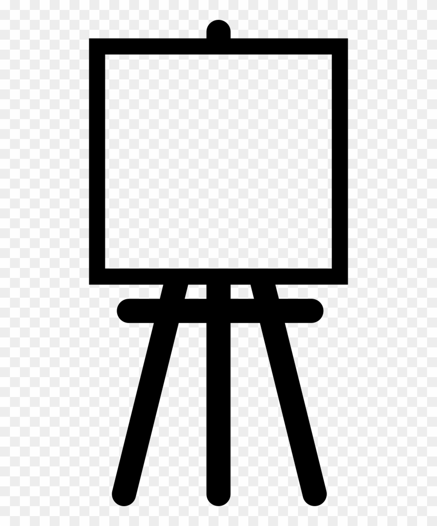 Vintage clipart easel image black and white download Vector Black And White Download Painter Easel With - Easel ... image black and white download