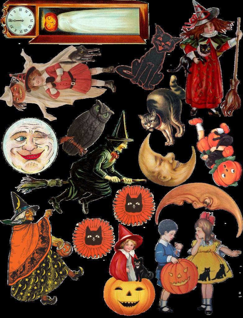 Vintage clipart halloween svg freeuse download Artfully Musing: FREE VINTAGE HALLOWEEN COLLAGE SHEET ... svg freeuse download