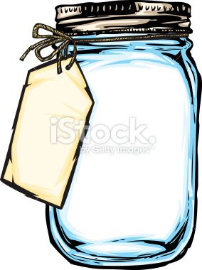 Vintage clipart memes jar jpg royalty free illustration of a mason jar with a hanging tag tied on with ... jpg royalty free