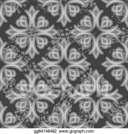 Vintage clipart people asian png freeuse stock Vector Illustration - Vintage seamless pattern. old royal ... png freeuse stock