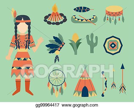 Vintage clipart people asian clipart transparent stock Vector Art - Indians icon temple ornament and element retro ... clipart transparent stock