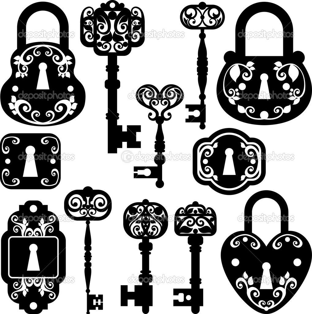 Vintage clipart pinterest clipart black and white lock and key clip art free | Twitter Facebook Pinterest ... clipart black and white