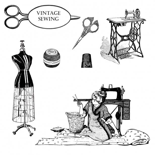 Vintage clipart public domain png freeuse download Vintage Dressmaking Clipart Free Stock Photo - Public Domain ... png freeuse download