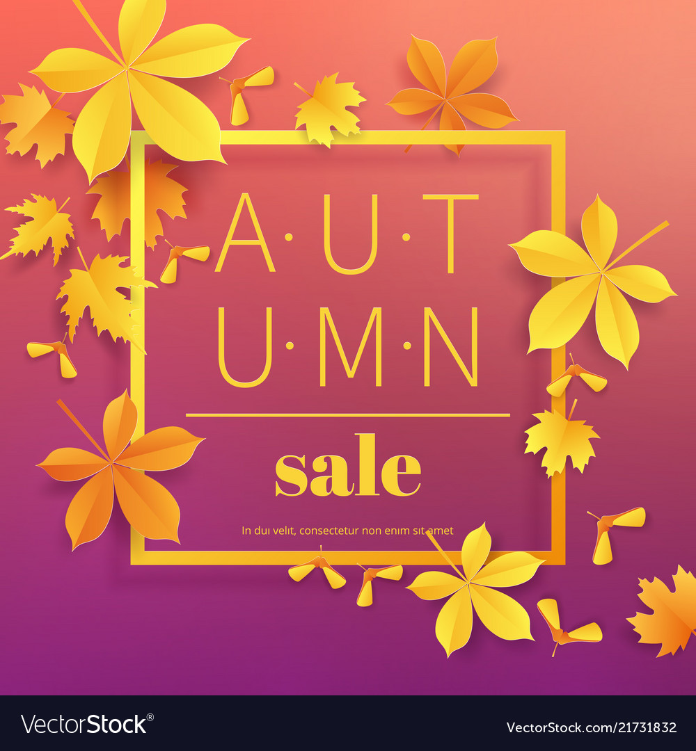 Vintage clipart sale ad picture library download Autumn sale vintage typography poster with gold picture library download