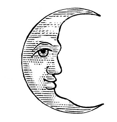 Vintage clipart sun moon black and white svg free library 11 Man in the Moon Clipart!   celestial   Moon art, Moon ... svg free library