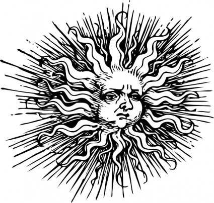 Vintage clipart sun moon black and white picture freeuse library Free Vintage Sun Cliparts, Download Free Clip Art, Free Clip ... picture freeuse library