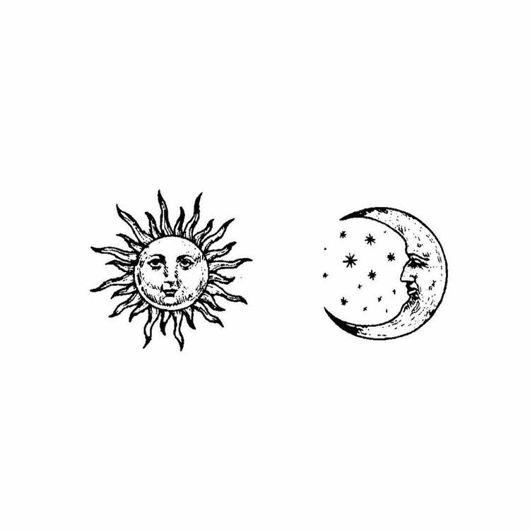 Vintage clipart sun moon black and white svg black and white black and white aesthetic   Tumblr svg black and white