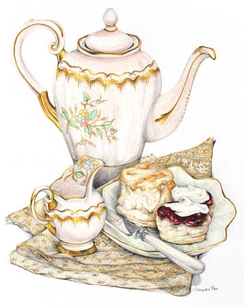Vintage clipart tea clip royalty free download Vintage afternoon tea clipart » Clipart Station clip royalty free download
