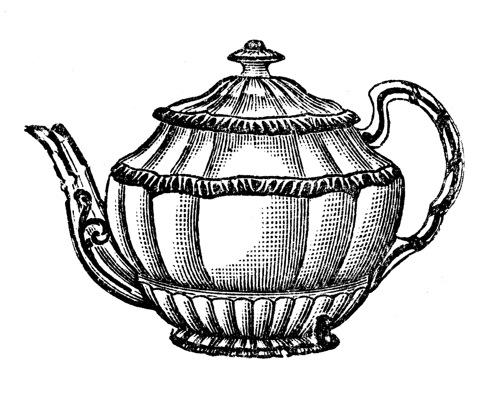 Vintage clipart tea png royalty free library Free vintage clip art images: Vintage tea party crockery png royalty free library