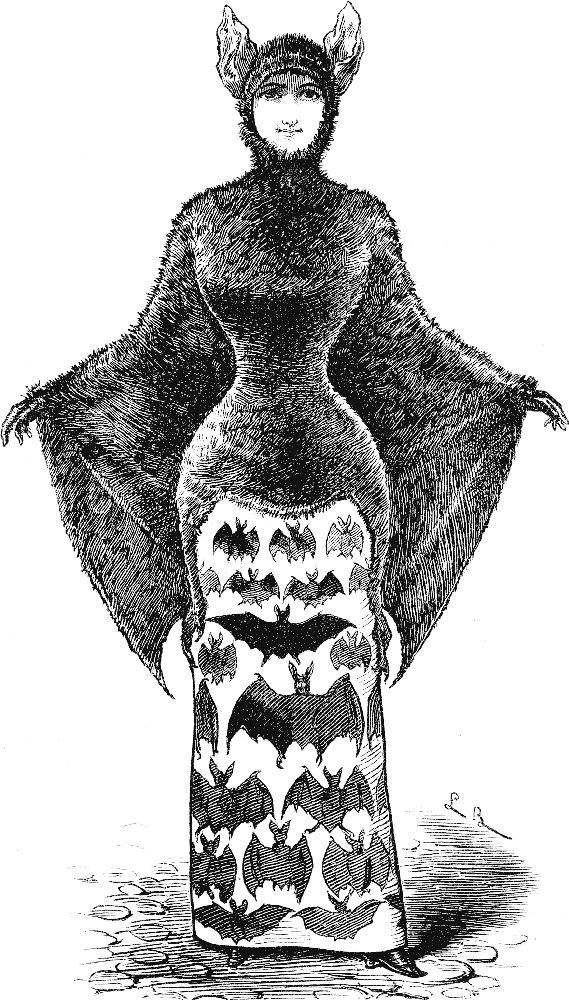 Vintage clipart two women clip transparent Free Vintage Clip Art - 2 Victorian Bat Ladies - Halloween ... clip transparent