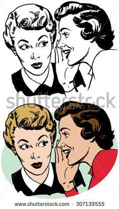 Vintage clipart two women graphic transparent 56 Best RTRO Women images in 2018   Clip art, Female art ... graphic transparent