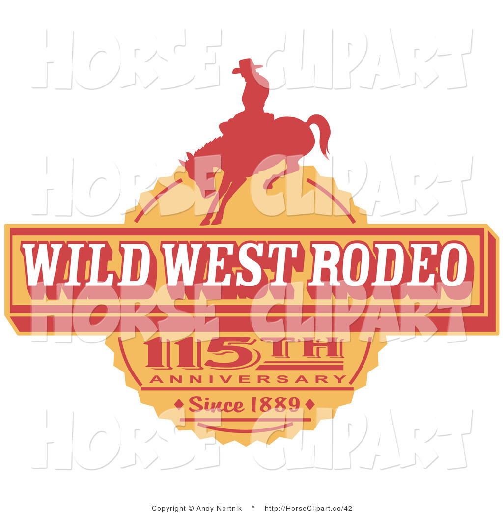 Vintage clipart west png free library Clip Art of a Vintage Wild West Rodeo Advertisement with a ... png free library