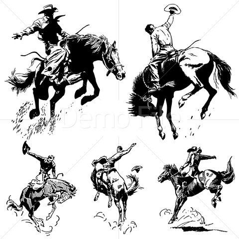 Vintage clipart west transparent Vintage Rodeo Graphics. | Stock Vector and Illustration ... transparent