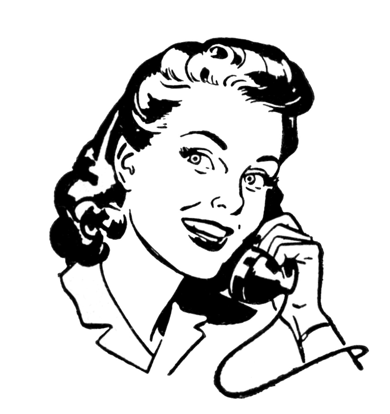Retro lady clipart clip freeuse Free Vintage Woman Cliparts, Download Free Clip Art, Free ... clip freeuse