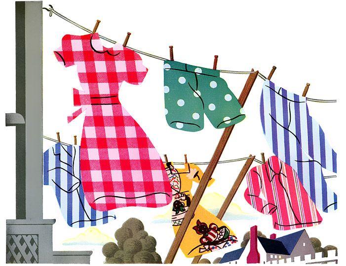 Vintage clothesline clipart banner library download Clothesline Cliparts | Free download best Clothesline ... banner library download
