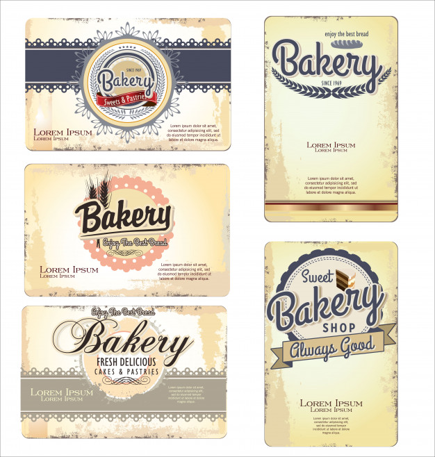 Vintage color tobacco labels clipart png black and white Vintage retro bakery labels and old paper Vector | Premium ... png black and white