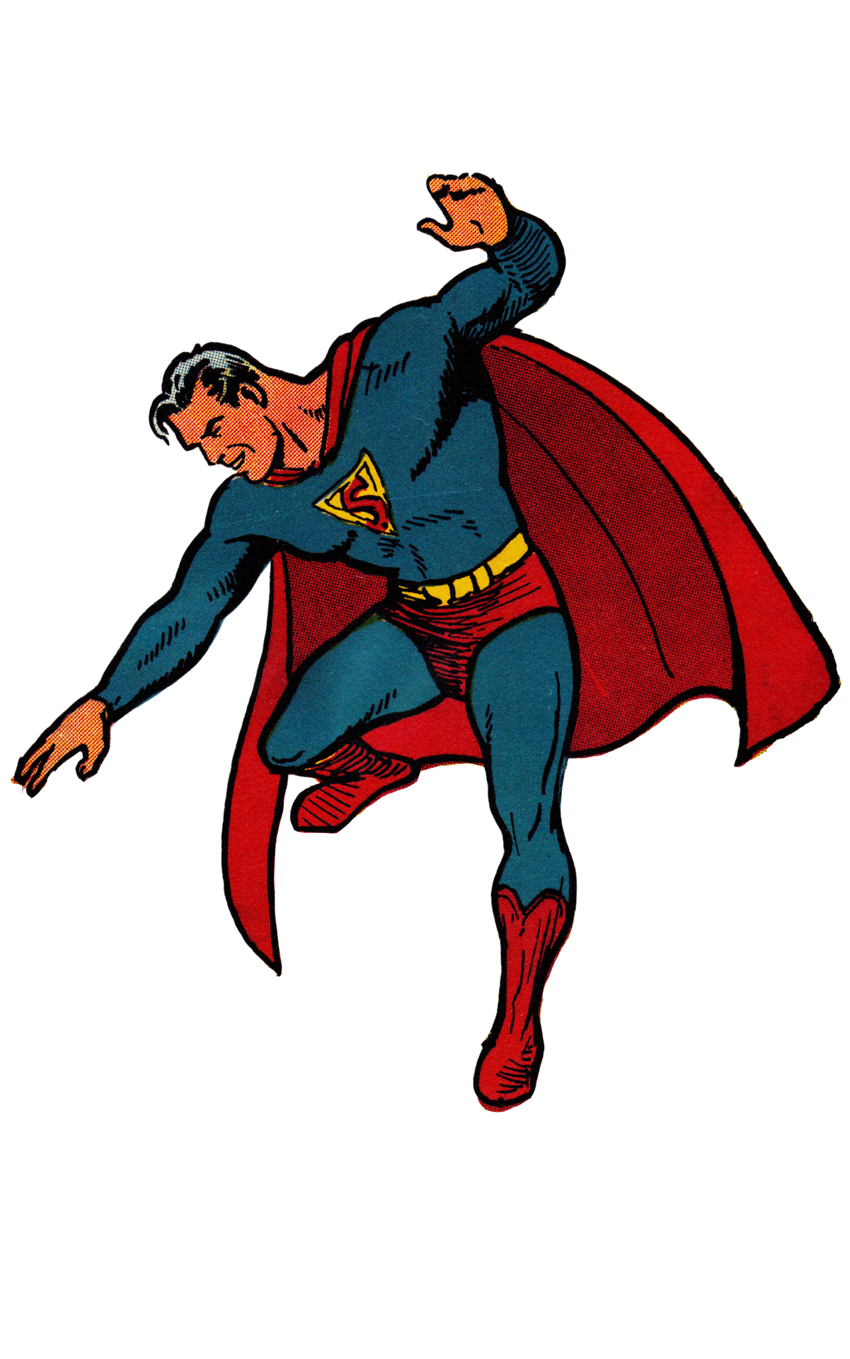 Vintage comic book superhero clipart vector royalty free download Golden Age Superman By Joe Shuster - used to have similar