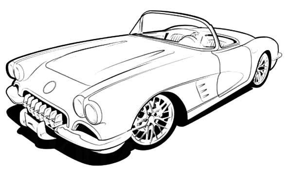 Vintage corevette clipart clip royalty free download Corvette Cars, : RC 1960 Corvette Cars Coloring Pages | Cars ... clip royalty free download