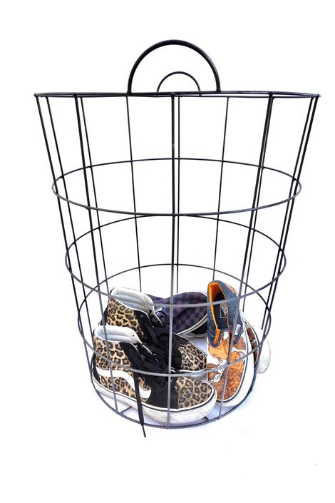 Vintage corral clipart free download Vintage Industrial Metal Wire Tall/Large Basket || Laundry ... free download