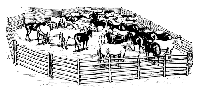 Vintage corral clipart graphic free stock Corral Clipart - Clip Art Library graphic free stock