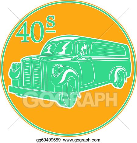 Vintage delivery truck clipart clipart royalty free library EPS Illustration - Delivery truck. Vector Clipart gg69499659 ... clipart royalty free library