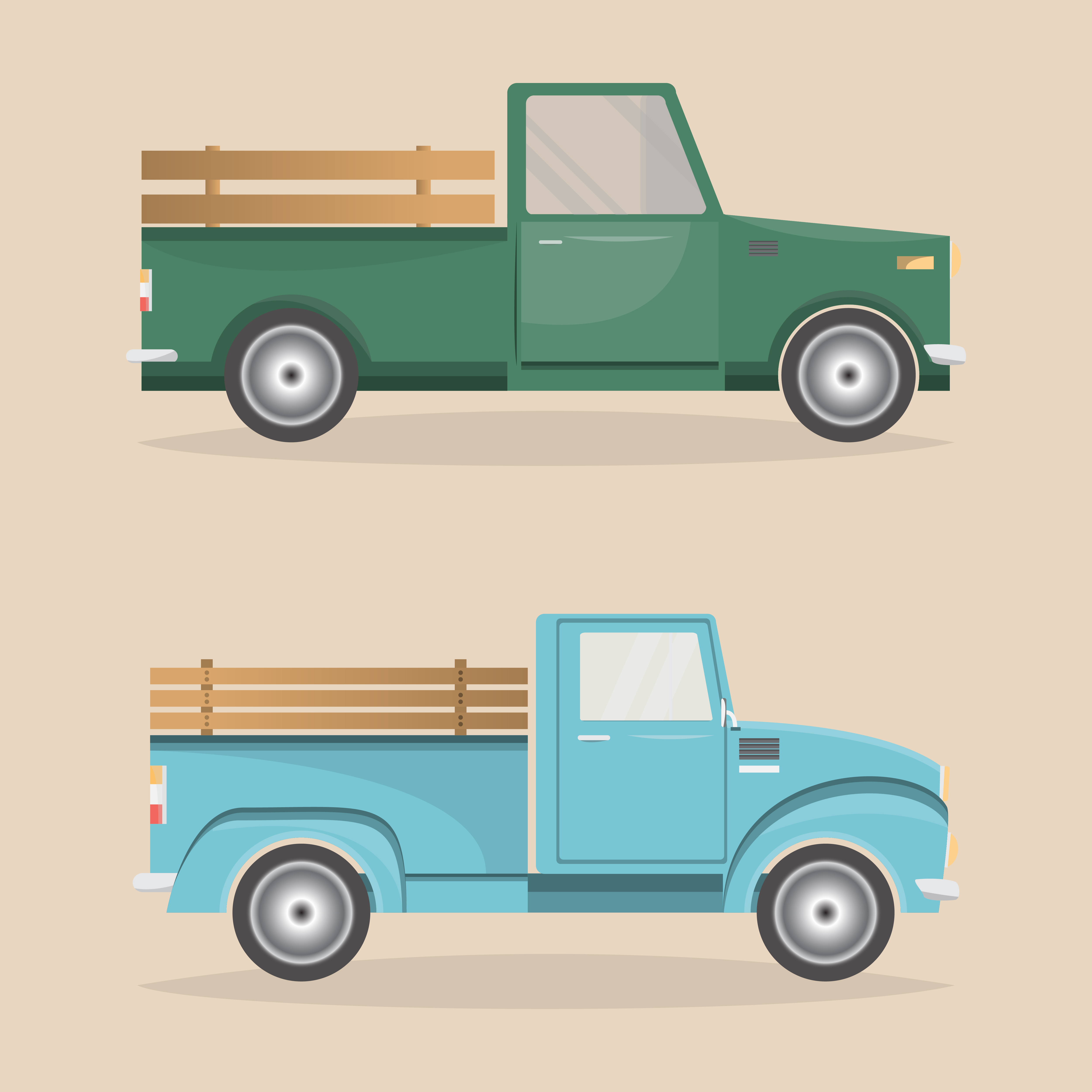Vintage delivery truck clipart png transparent stock Pickup Truck Free Vector Art - (50,641 Free Downloads) png transparent stock