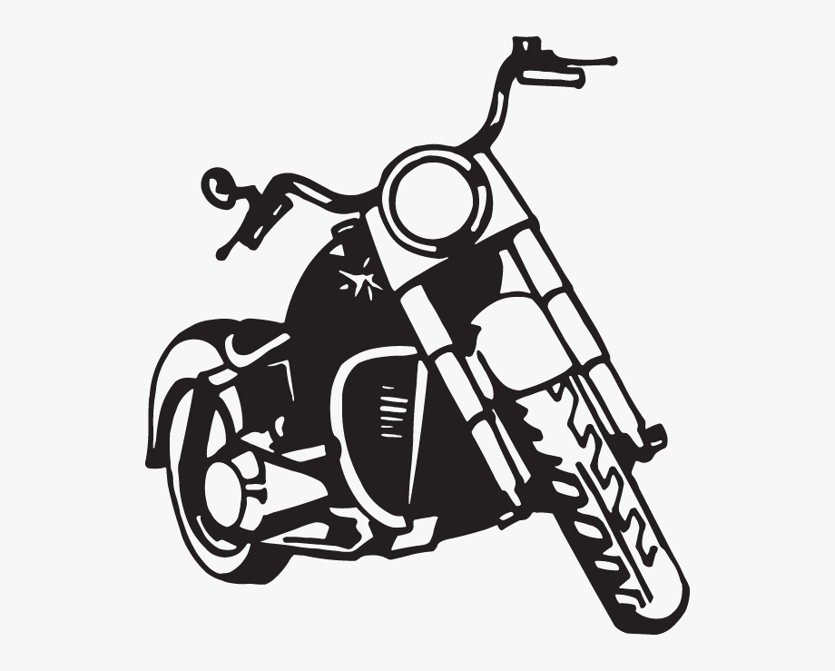 Vintage dirt bike clipart jpg black and white Dirt Bike Clip Art - Motorcycle Front View Clipart #140283 ... jpg black and white
