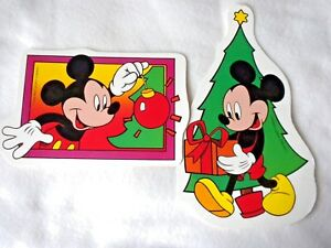 Vintage disney christmas clipart clip library library Details about Mickey & Minnie Mouse Vintage Disney Christmas Paper Wall  Decorations clip library library