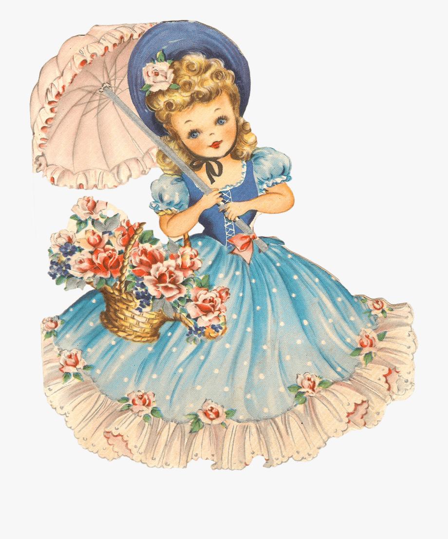 Vintage doll clipart jpg freeuse download Vintage Girl Transparent Png Stickpng Download - Old Time ... jpg freeuse download