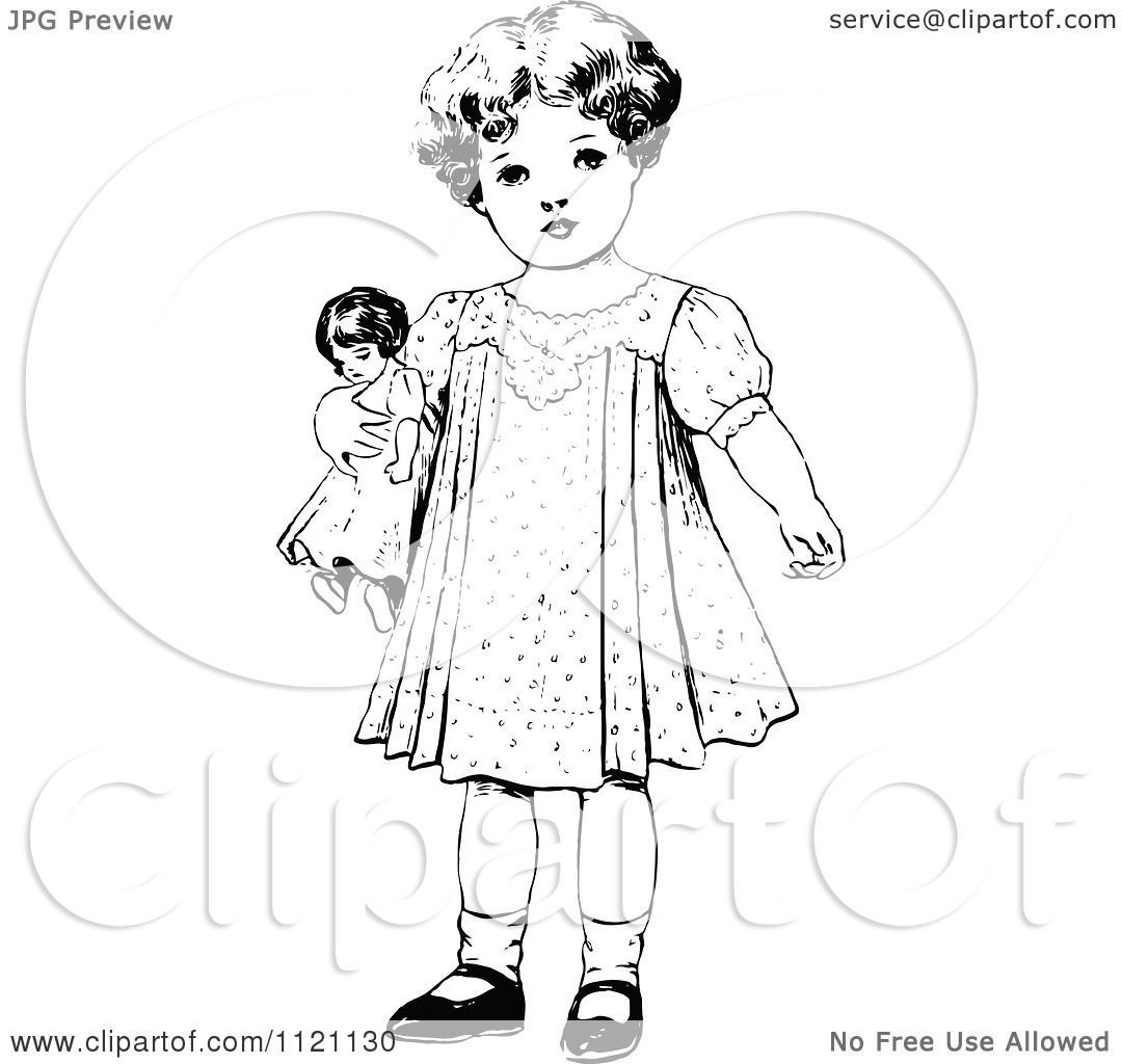 Vintage doll clipart black and white download Vintage doll clipart 1 » Clipart Portal black and white download