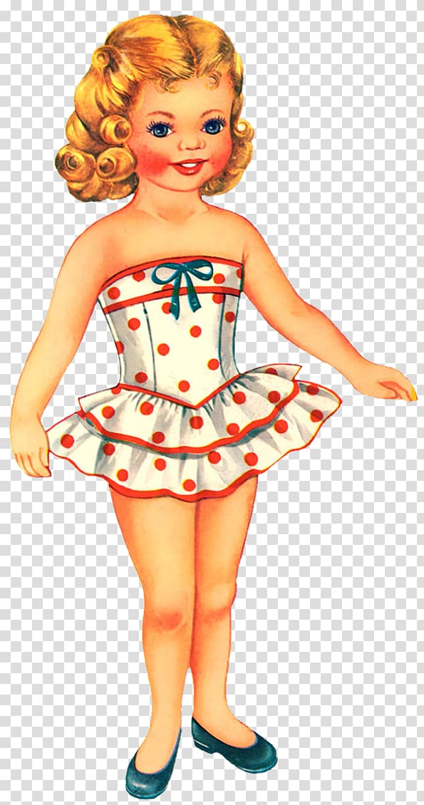 Vintage doll clipart graphic Paper doll Vintage clothing, doll transparent background PNG ... graphic