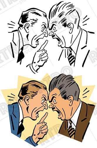 Vintage drunk clipart png transparent download Two angry men butting heads and having a shouting match ... png transparent download