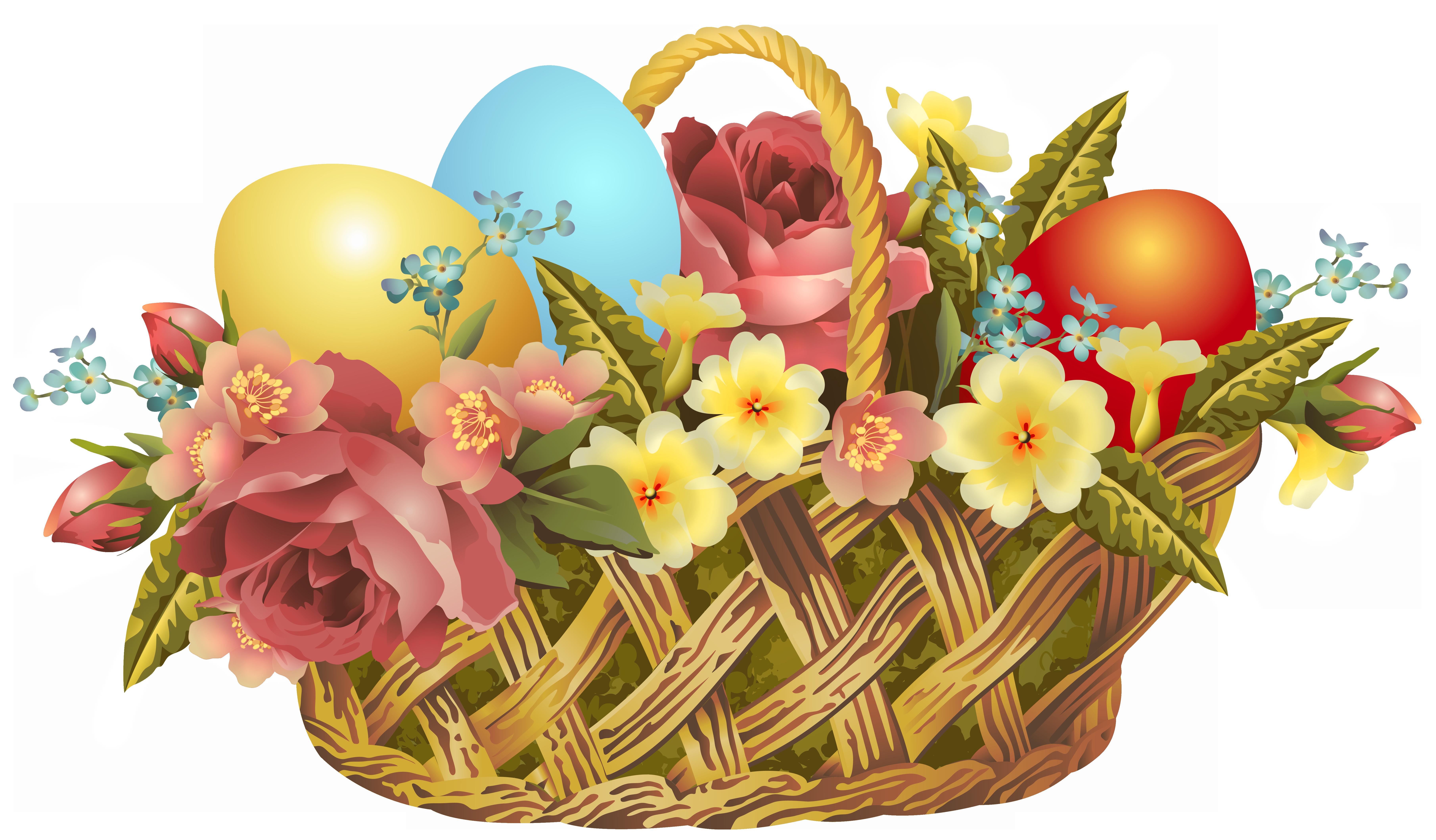 Vintage easter basket clipart download Vintage Easter Basket Transparent PNG Clip Art Image download