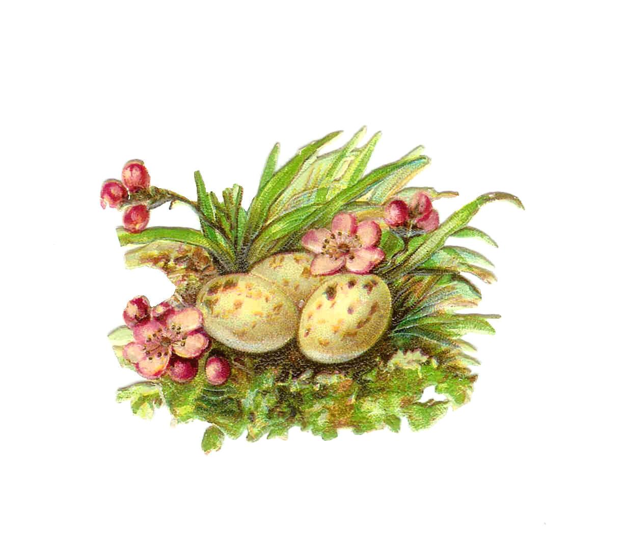 Vintage easter basket clipart clipart free download Vintage Flowers Religious Clipart - Clipart Kid clipart free download