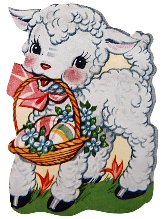 Vintage easter basket clipart banner royalty free library Retro Easter Lamb Clip Art – Click for printable picture @ Vintage ... banner royalty free library