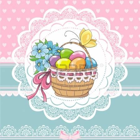 Vintage easter basket clipart picture transparent download 13,656 Easter Basket Cliparts, Stock Vector And Royalty Free ... picture transparent download