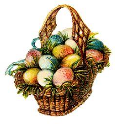 Vintage easter basket clipart svg royalty free Vintage Inspired Foil Easter Bunny in a Basket Ornament | Vintage ... svg royalty free