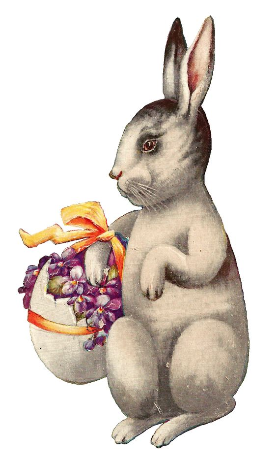 Vintage easter basket clipart graphic black and white download Antique Images: Free Easter Clip Art: Vintage Easter Bunny ... graphic black and white download