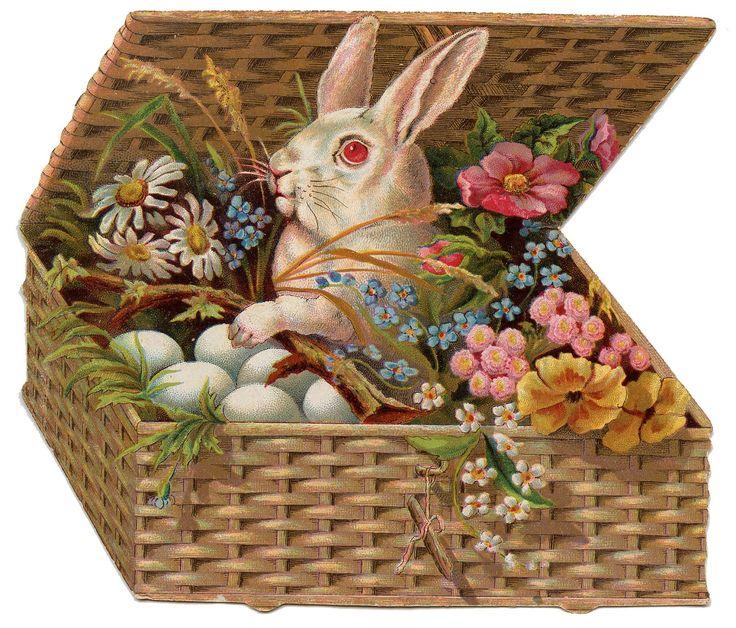 Vintage easter basket clipart clip art transparent download 17 Best images about Vintage Easter on Pinterest | Postcards ... clip art transparent download