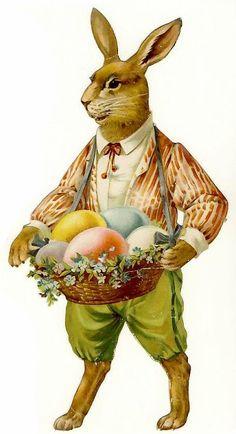 Vintage easter egg images clipart jpg free Vintage Easter Greetings Postcard | Ägg, Låtar och Kaniner jpg free