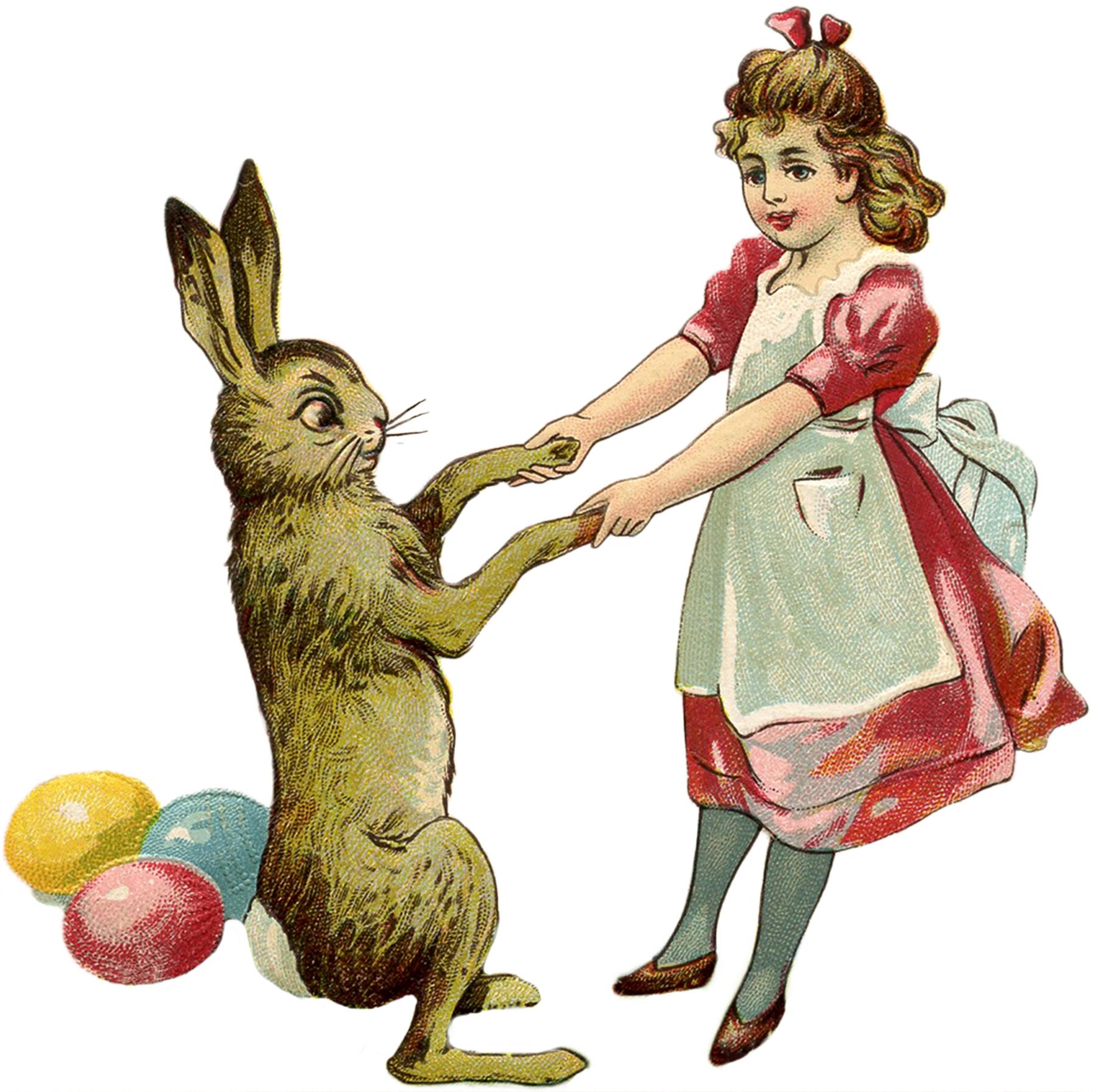 Vintage easter egg images clipart clip art transparent stock Free Vintage Easter Bunny Images - The Graphics Fairy clip art transparent stock