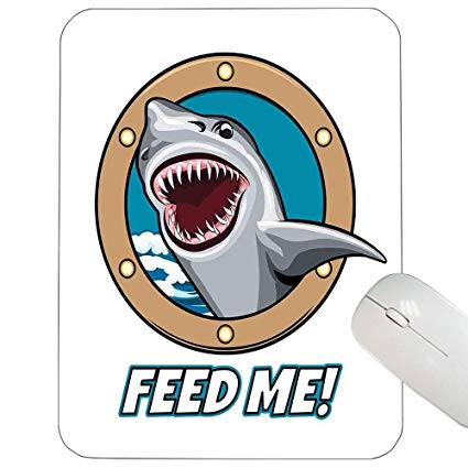 Vintage feeding hungry clipart vector transparent library Amazon.com : Shark Customized Mouse pad Funny Vintage Feed ... vector transparent library