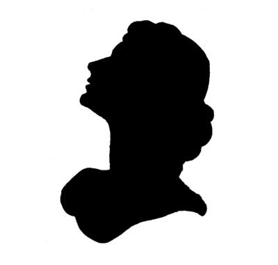 Vintage female silhouette clipart png freeuse download Vintage French Stencils | Glamorous Woman Silhouette Stencil ... png freeuse download