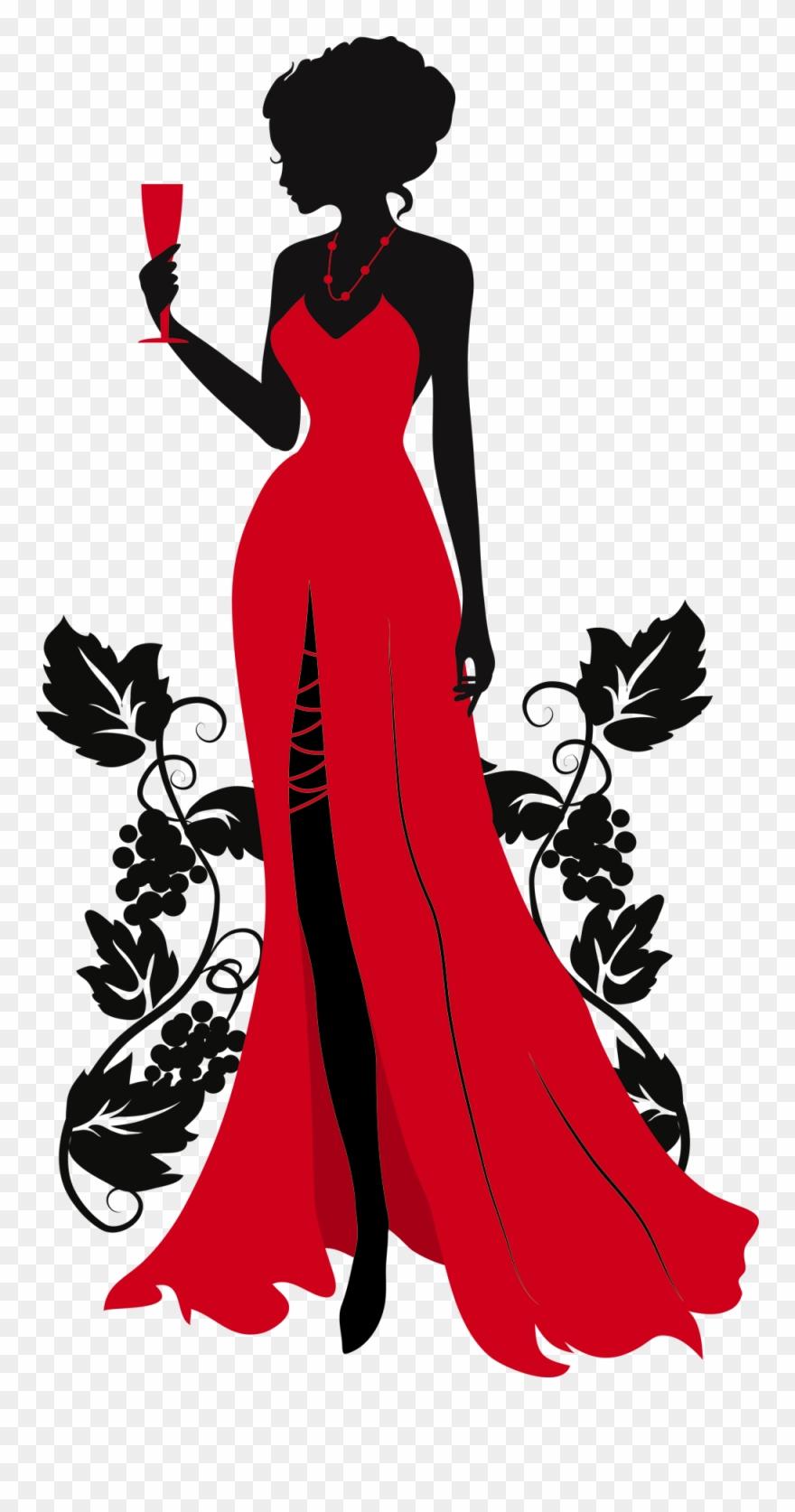 Vintage female silhouette clipart transparent download Woman Silhouette, Vintage Silhouette, Silhouette Art ... transparent download