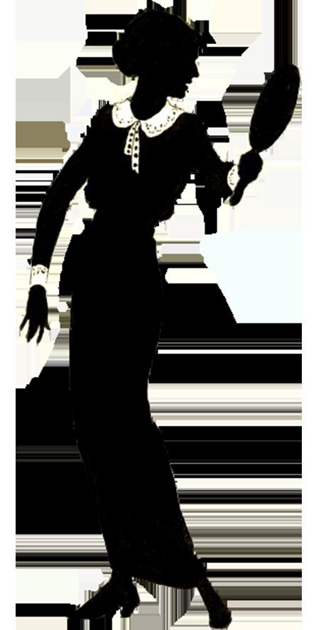 Vintage female silhouette clipart vector library stock Female Silhouette vector library stock