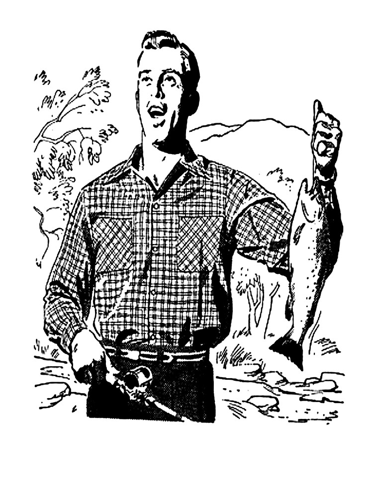 Vintage fisherman clipart graphic library Vintage Fisherman\