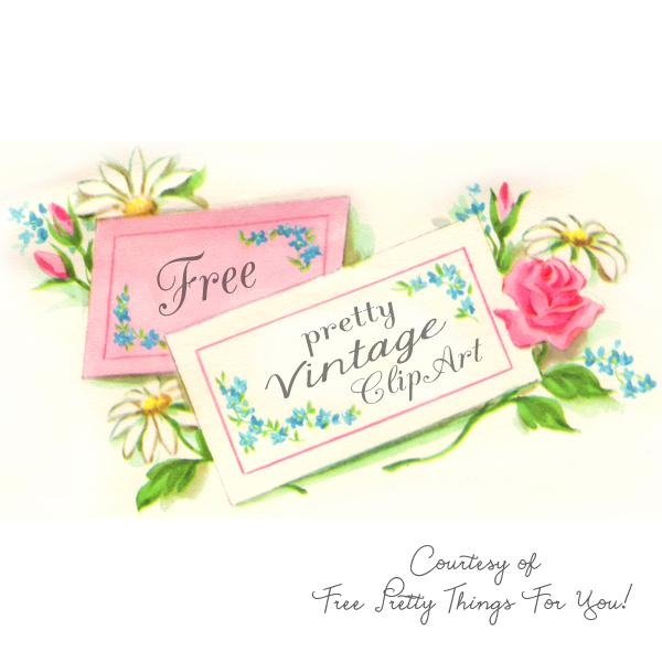 Vintage floral clipart free clip art free library Flower Clip Art clip art free library