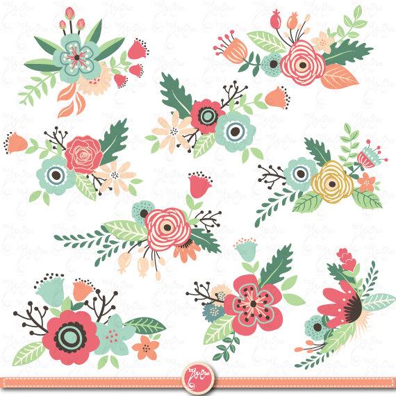 Vintage floral clipart free clipart Flowers clip art\