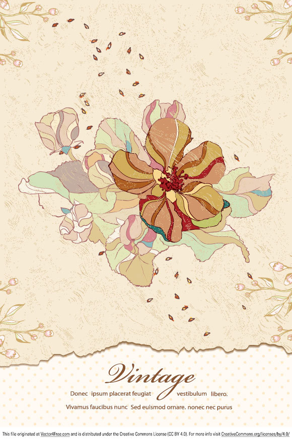 Vintage floral images free image free stock Vintage Floral Background - Free Vector Art image free stock