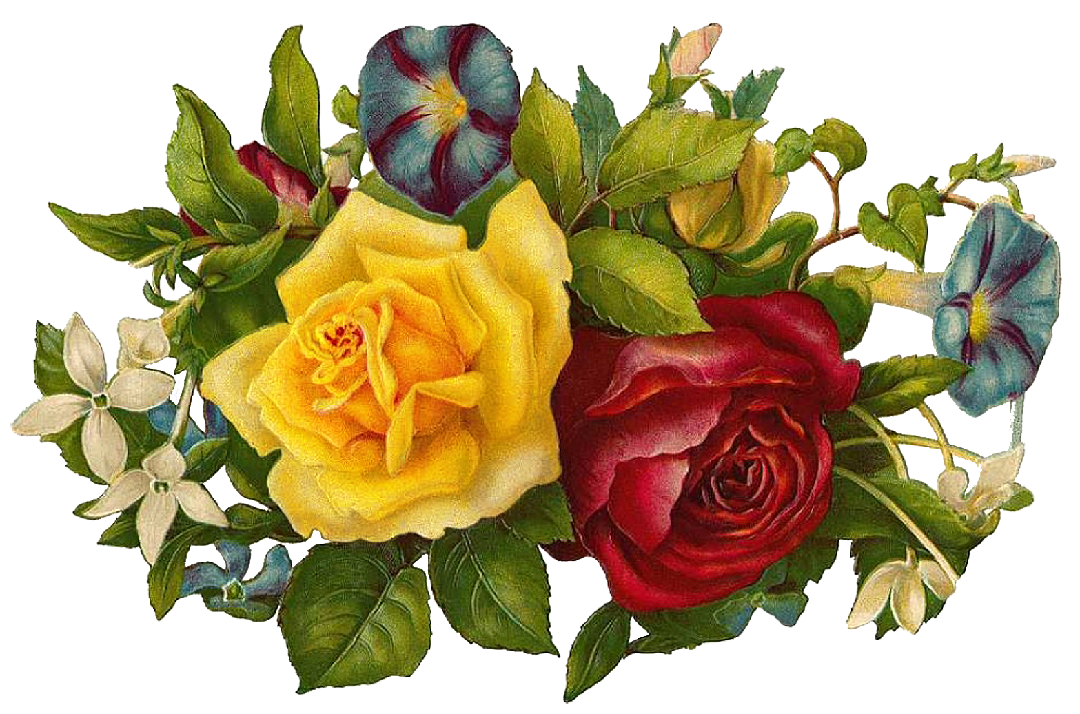 Vintage floral images free clipart freeuse stock 17 Best images about Flowers on Pinterest   Yellow roses, Clip art ... clipart freeuse stock